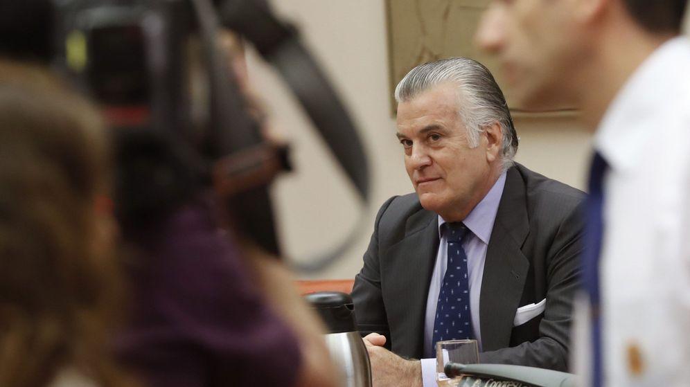 Foto: El extesorero del PP Luis Bárcenas, durante su comparecencia en el Congreso. (EFE)