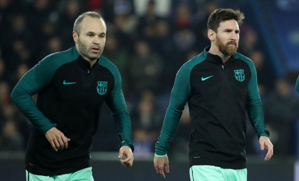 Foto: Iniesta y Messi, en un partido de esta temporada. (Reuters)