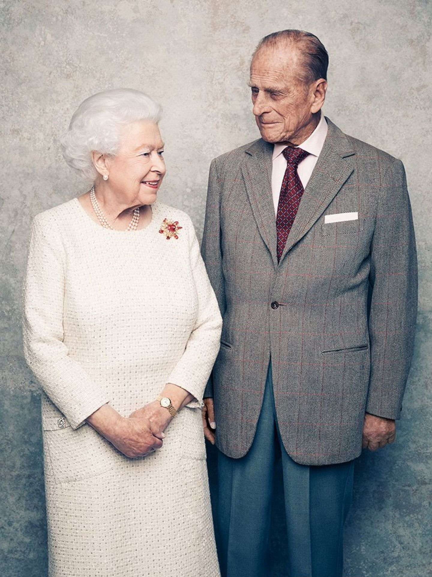 La reina Isabel y el duque de Edimburgo. (Palacio de Buckingham)