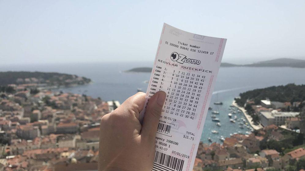 Foto: Boleto de la lotería australiana. Foto: Thelott