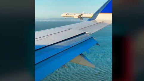 Dos aviones aterrizan en paralelo y un pasajero consigue grabarlo todo