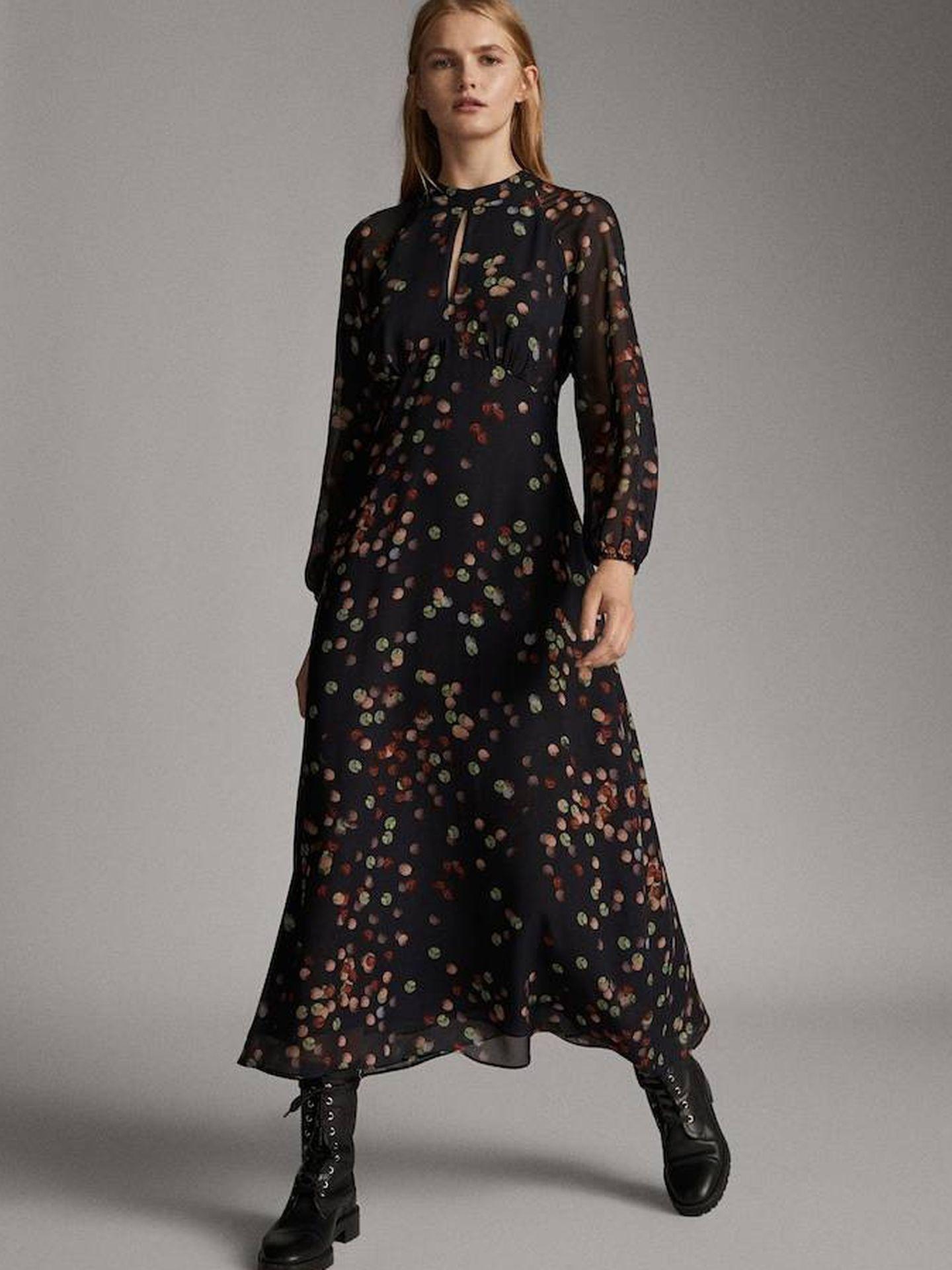 El vestido de Massimo Dutti.