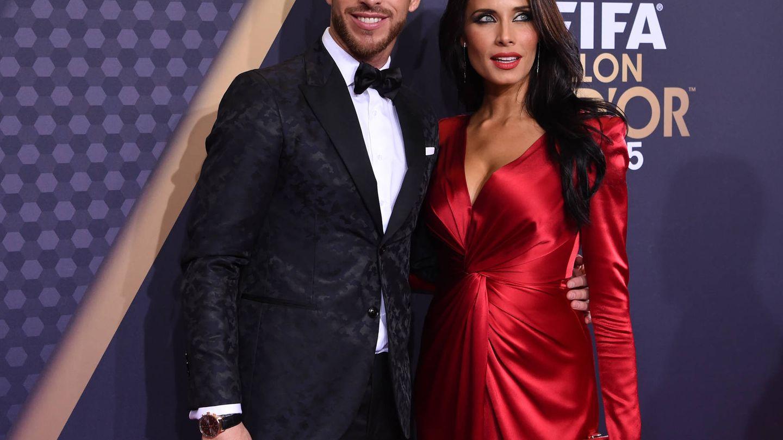 Pilar Rubio y Sergio Ramos, en la gala del Balón de Oro. (Getty)