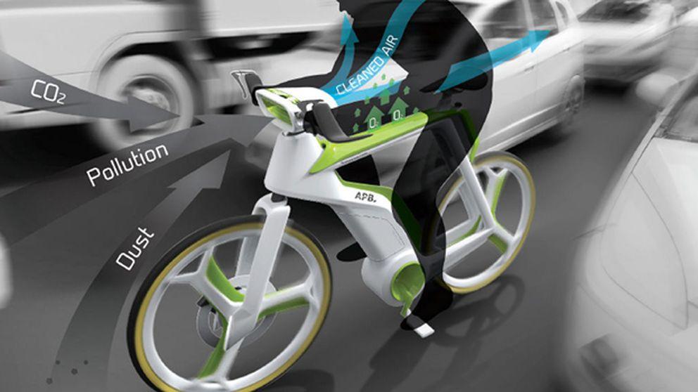 Una bicicleta que 'se come' la polución del aire de la ciudad
