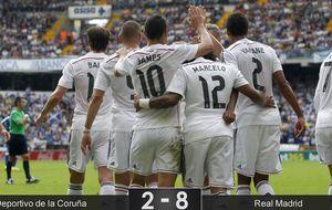 El Madrid masacra al Deportivo y ya está en la lucha por la Liga