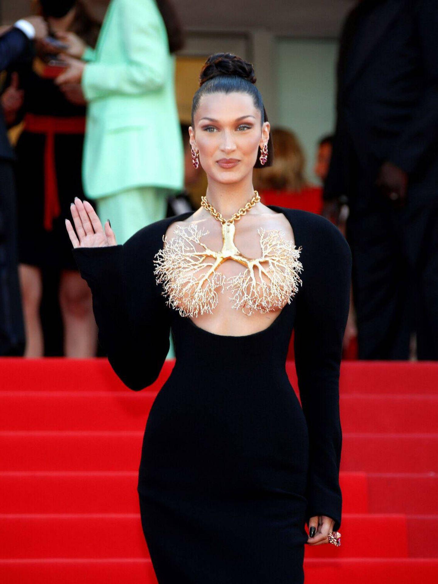 Bella Hadid, en Cannes. (EFE)