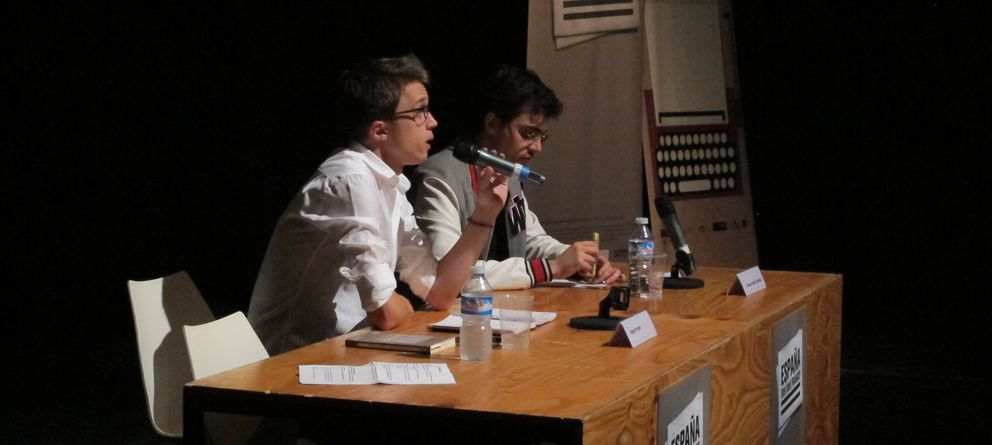 Foto: Íñigo Errejón y Ernesto Castro.(España sin un Franco)