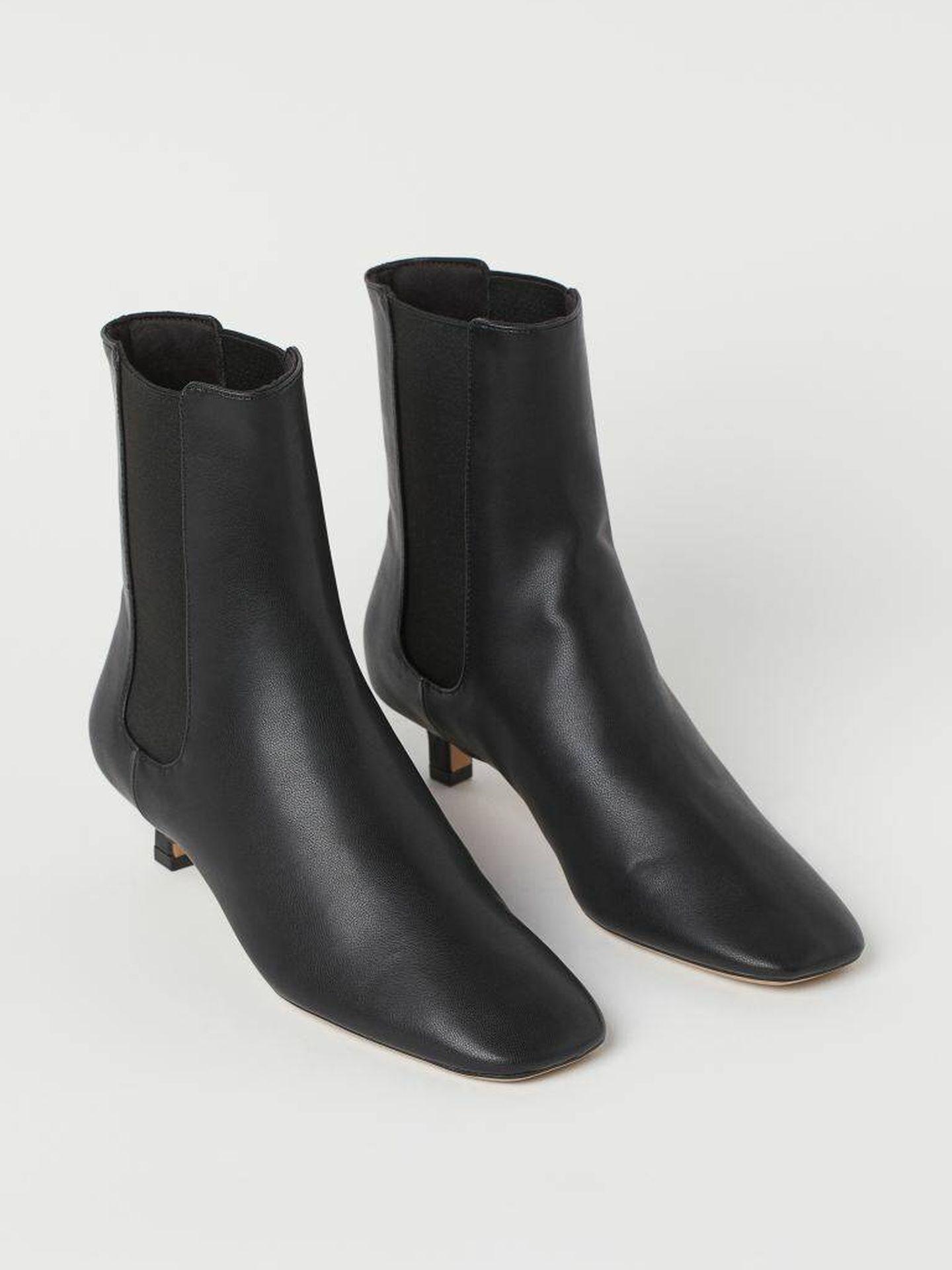 Los nuevos botines negros, cómodos y low cost de HyM. (Cortesía)