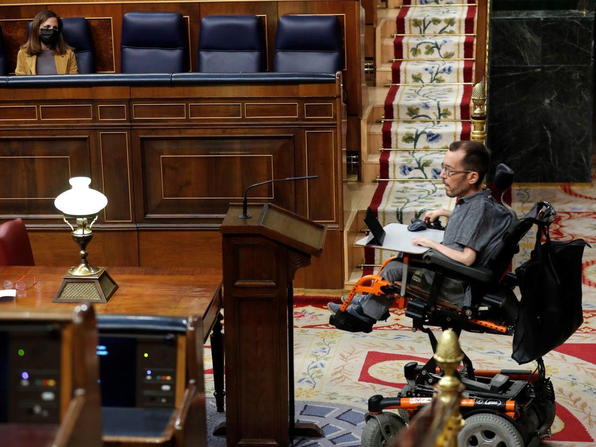 Foto: El portavoz de Unidas Podemos, Pablo Echenique. (EFE)