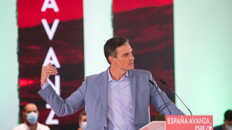 El presidente del Gobierno, Pedro Sánchez, durante el acto. (EFE)