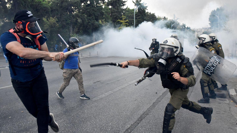 Violentas protestas en el norte de Grecia, la provincia de Macedonia, por el acuerdo con 'Macedonia del Norte' (REUTERS)