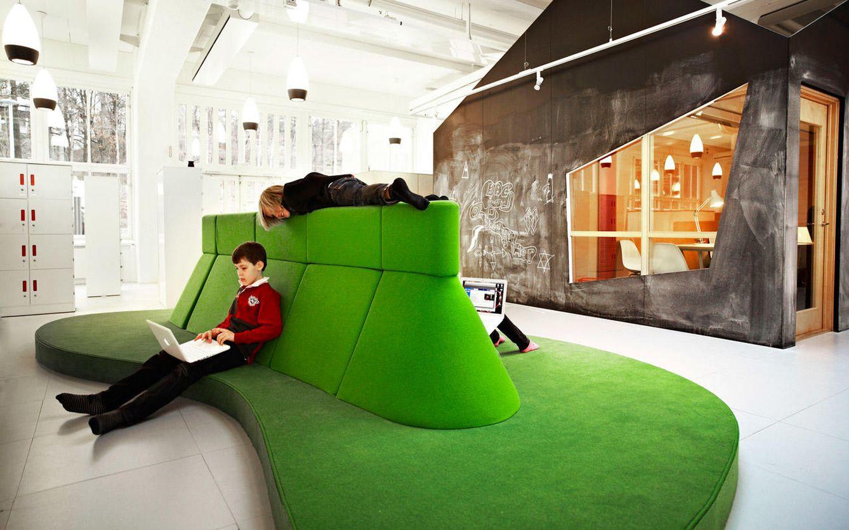 Foto: El colegio sueco Vittran Telefonplan, diseñado por Rosan Bosch, es uno de los pioneros en rediseñar el espacio de las aulas.