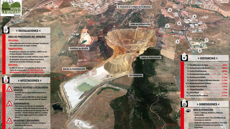 Recreación de la mina de litio de Cáceres. (Plataforma Salvemos la Montaña de Cáceres)