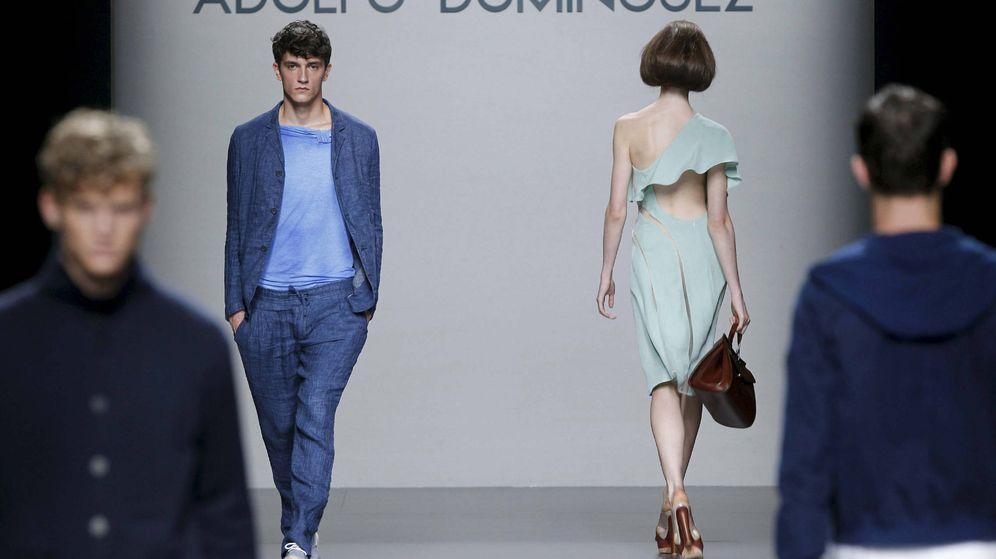 Foto: Desfile de Adolfo Dominguez en la Cibeles Madrid Fashion Week. (EFE)