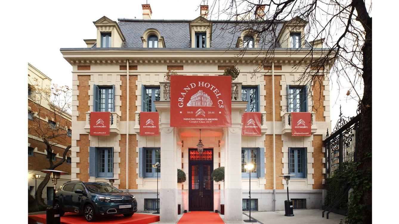 Foto: Fachada del Grand Hotel C5 Estrellas, en el Palacete del hotel Santo Mauro, en Madrid.
