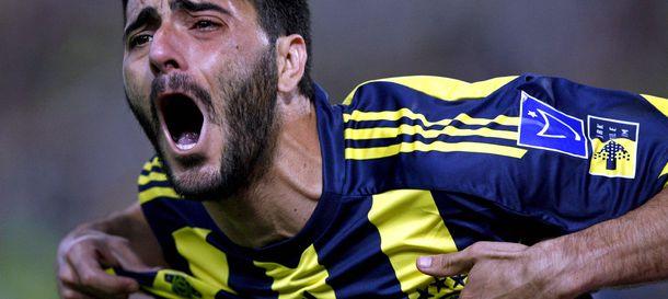Foto: El delantero jerezano Dani Güiza celebra un gol con el Fenerbahçe.