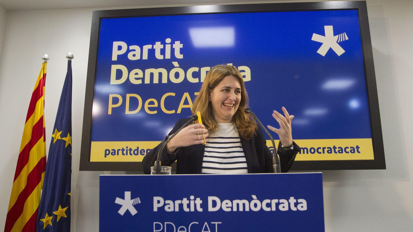 Foto: Marta Pascal durante una rueda de prensa del PDeCAT. (EFE)