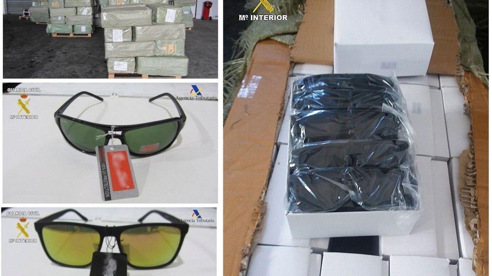 Foto: Intervenidas en el puerto de Melilla 56.000 gafas falsificadas (Efe)