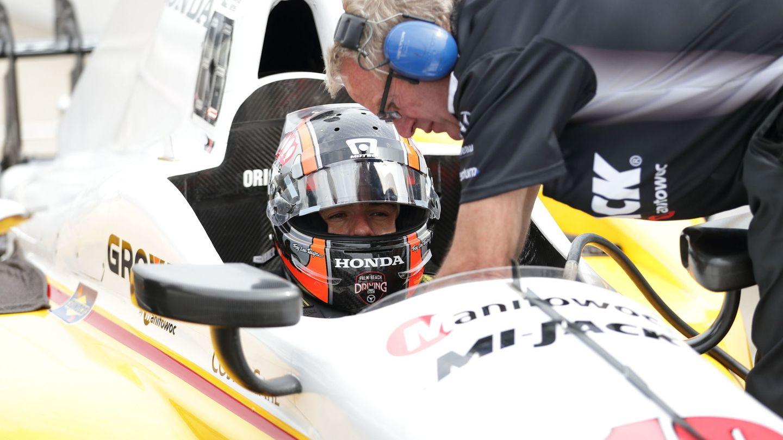 Oriol Servià, en un entrenamiento de las 500 Millas de Indianápolis de 2017 (EFE)
