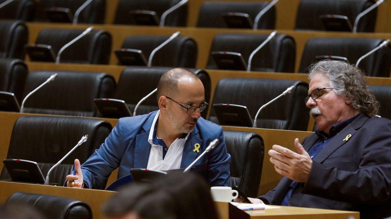 Carles Campuzano y Joan Tardà, en el Congreso. (EFE)