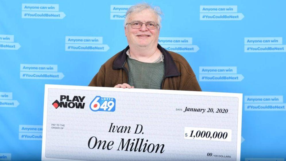 Foto: Ivan no pudo dejar de trabajar durante dos meses para cobrar el premio (Foto: Lotto 6/49)