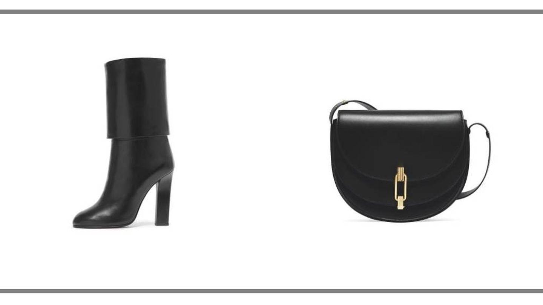 Botas y bolso. (Web de Victoria Beckham)