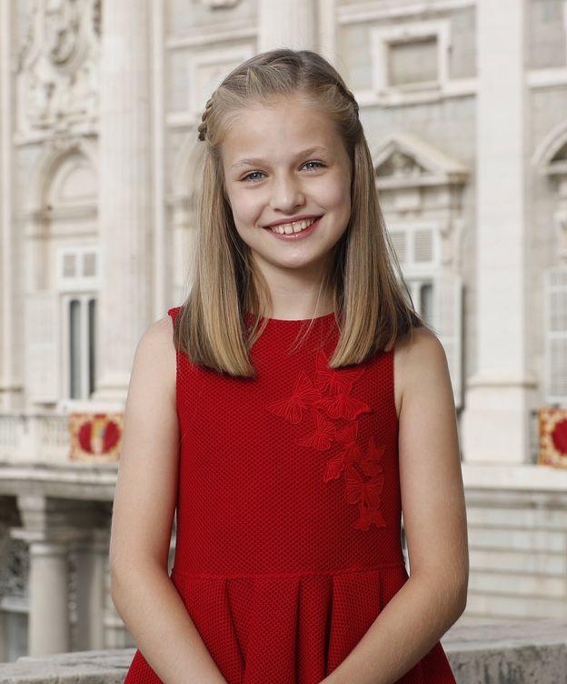 Foto: La fotografía oficial de la princesa Leonor. (Casa Real)