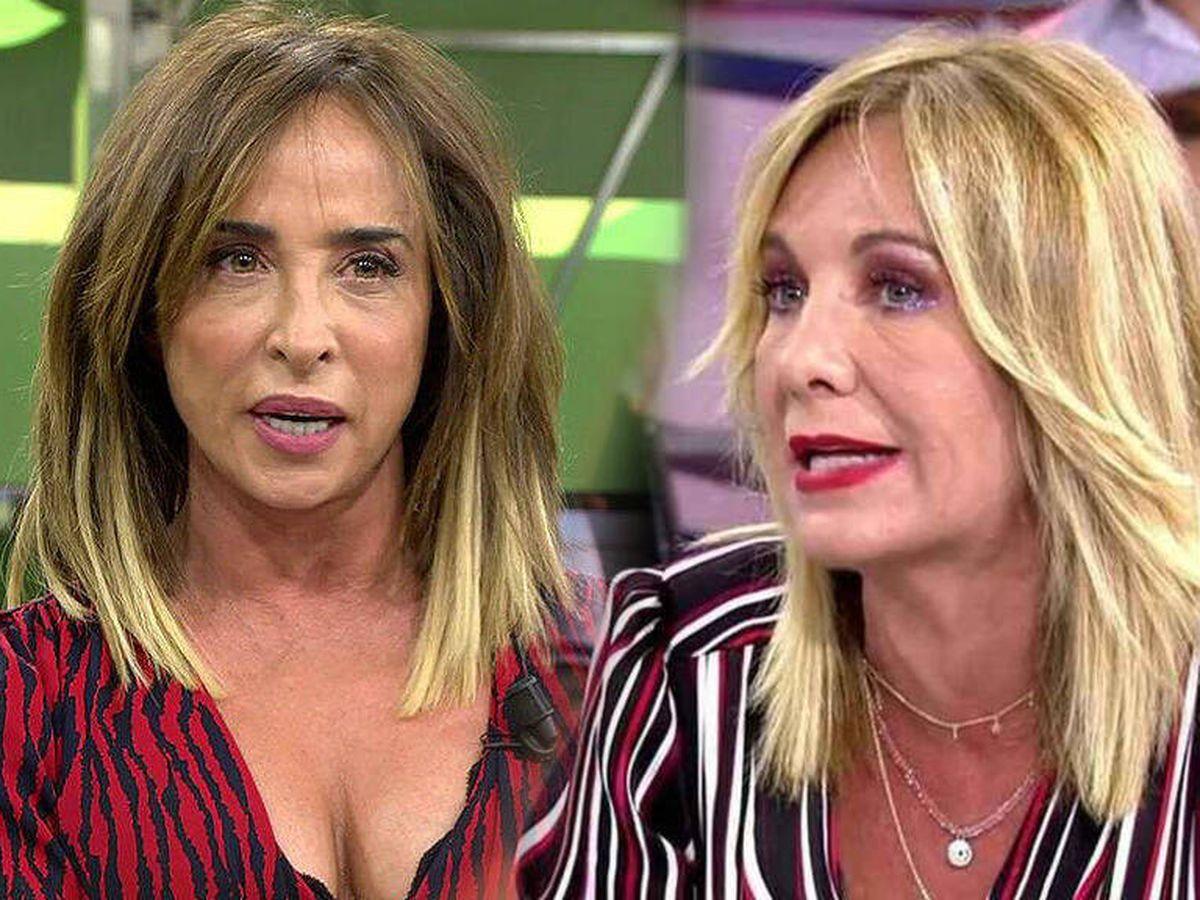 Foto: María Patiño y Belén Rodríguez, en 'Sálvame'. (Telecinco)