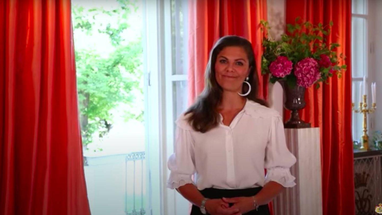 Victoria de Suecia, en el vídeo. (Kungahuset)