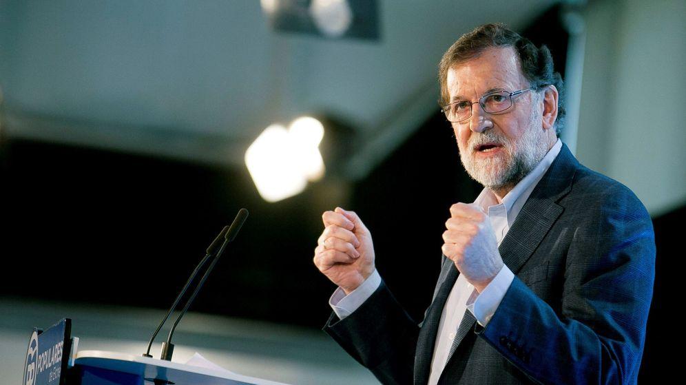 Foto: Rajoy, este sábado en Elche. Foto: EFE.