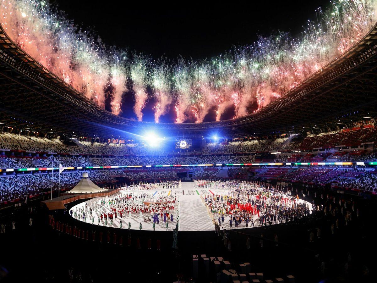 Foto: Inauguración oficial de los Juegos Olímpicos de Tokio. (EFE)