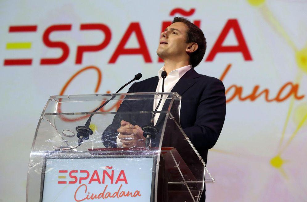 Foto: El líder de Ciudadanos, Albert Rivera, durante la presentación de la plataforma 'España Ciudadana'.