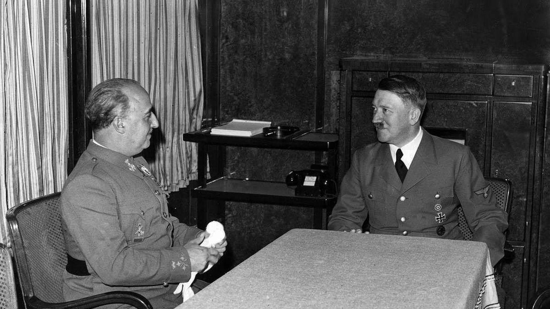 Franco y Hitler en su reunión