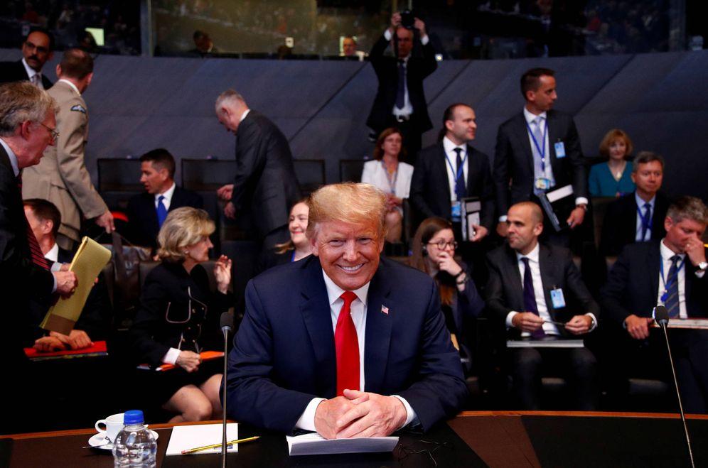 Foto: El presidente de EEUU, Donald Trump, durante una cumbre de la OTAN en Bruselas, el 11 de julio de 2018. (Reuters)