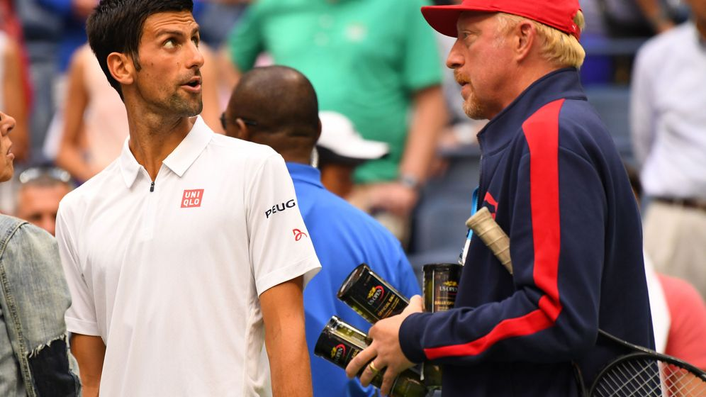 Foto: Novak Djokovic y Boris Becker (Reuters)