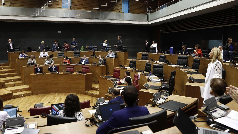 Vista del Parlamento Navarra en septiembre. (EFE)
