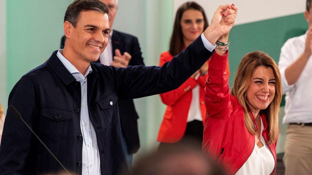 Foto: Susana Díaz y Pedro Sánchez en el Comité Director del PSOE en Sevilla. (EFE)
