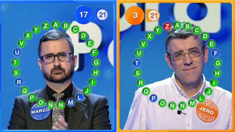 Marco Antonio y Jero, en 'Pasapalabra'. (Telecinco)