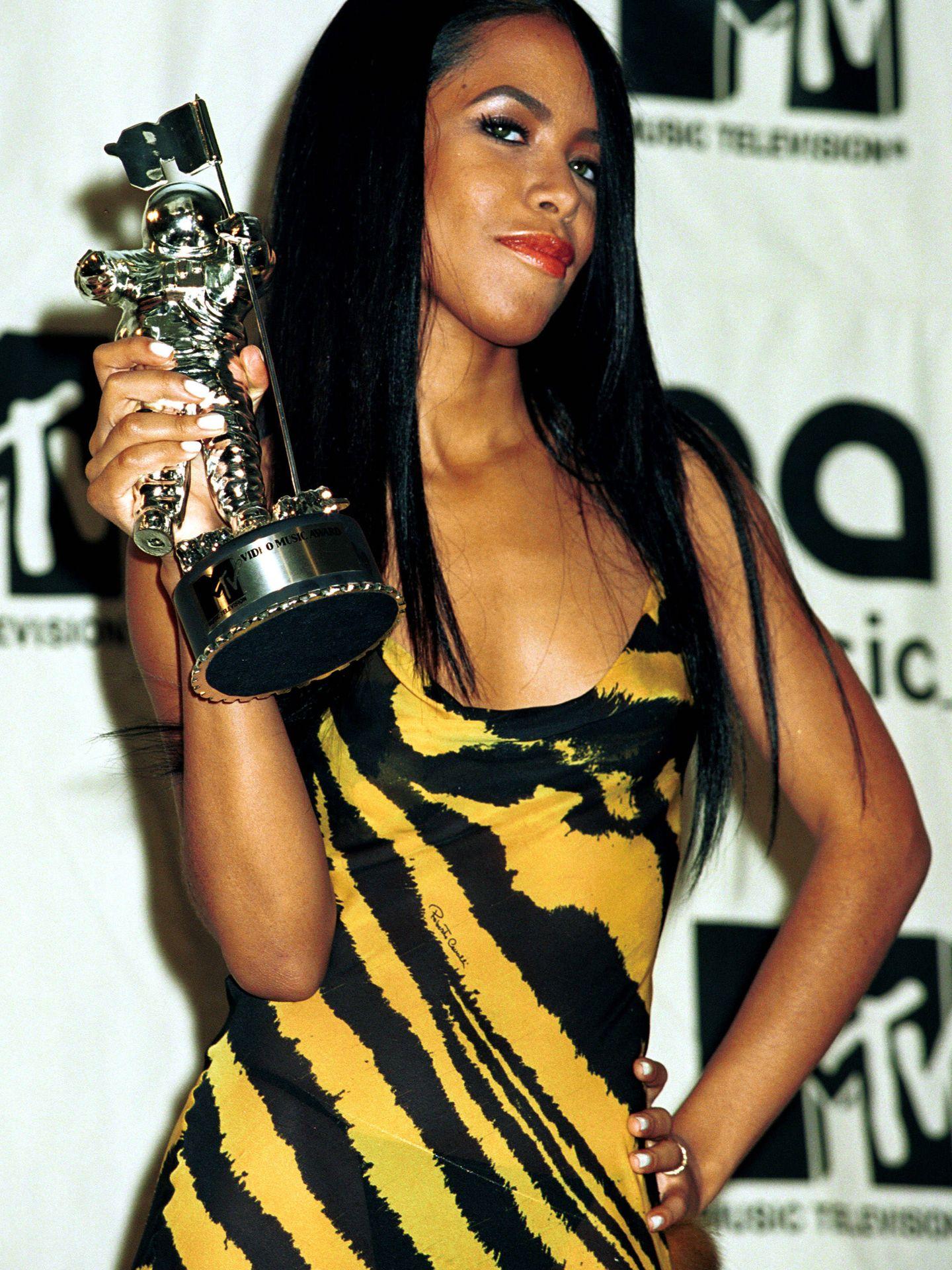 Aaliyah, en una foto de 2000. (Getty)
