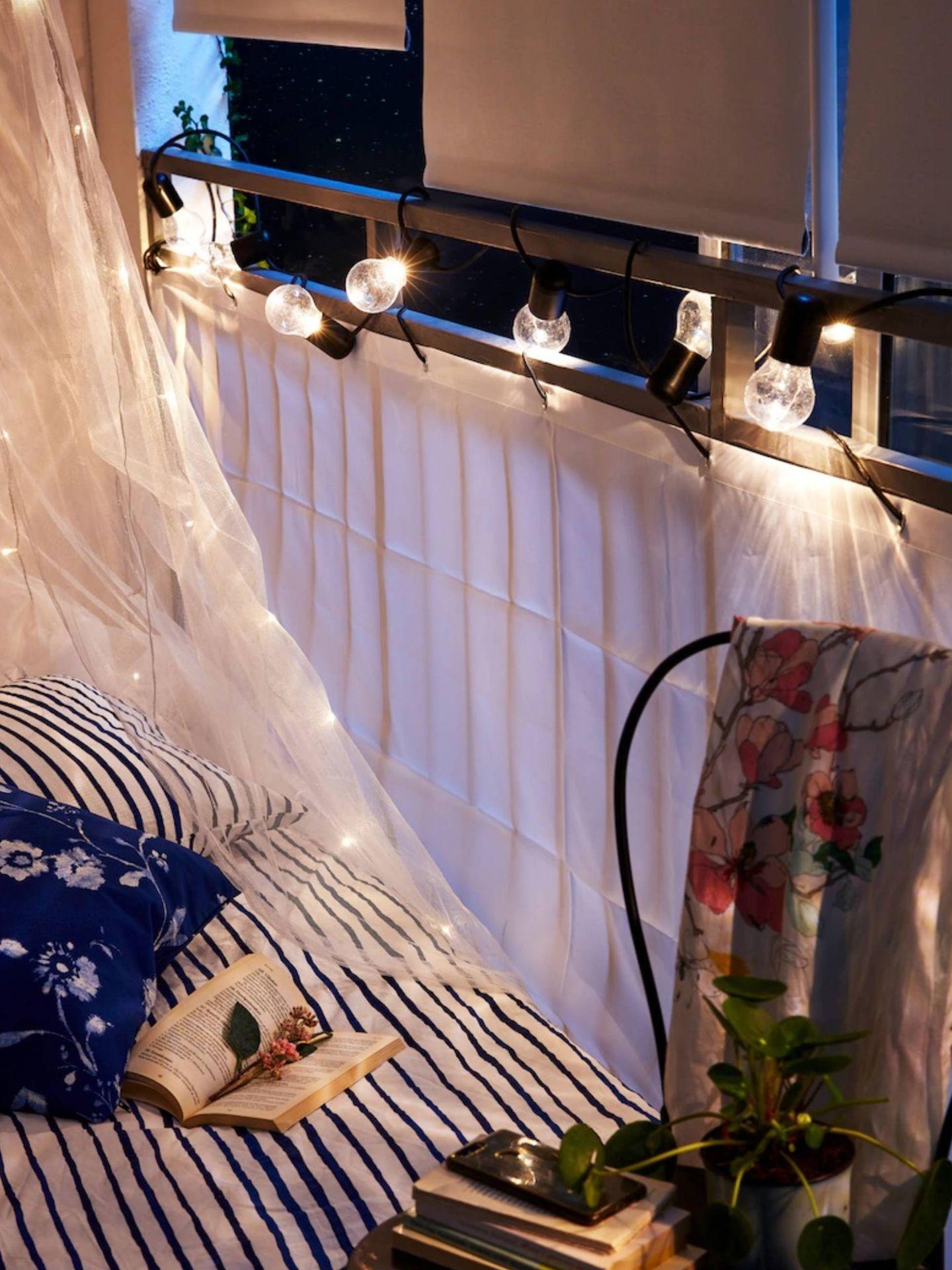 Romántica velada en tu balcón con Ikea. (Cortesía)