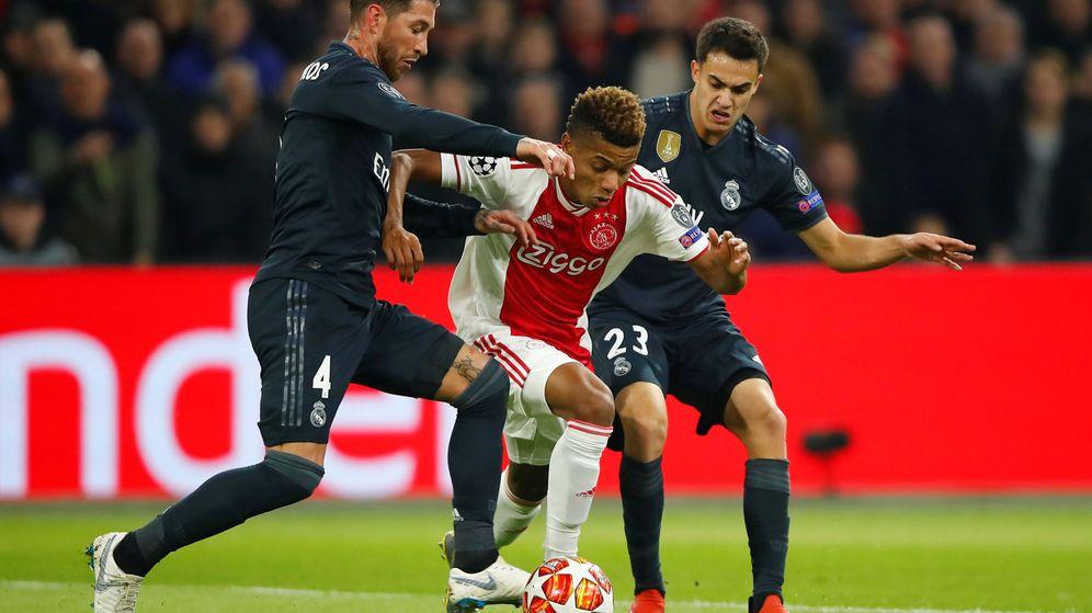 Foto: Sergio Ramos en el partido contra el Ajax de Ámsterdam. (Efe)