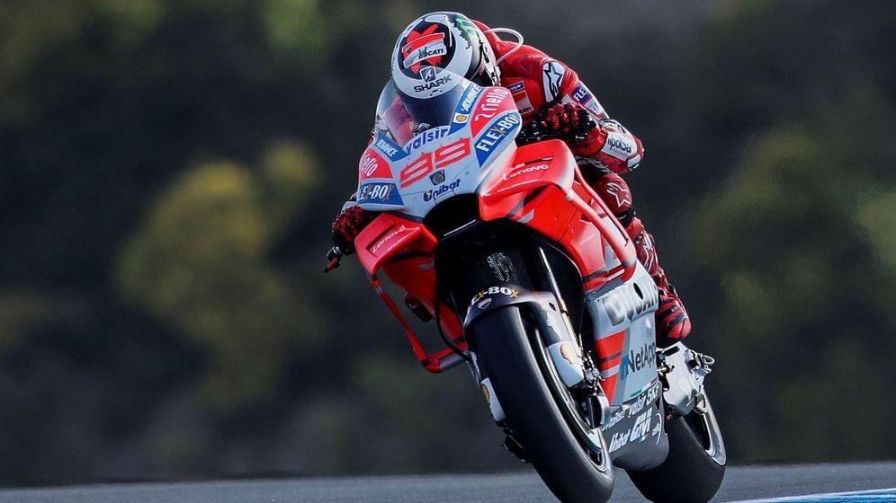 Foto: Jorge Lorenzo sobre su Ducati, este año, en el GP de España. (EFE)