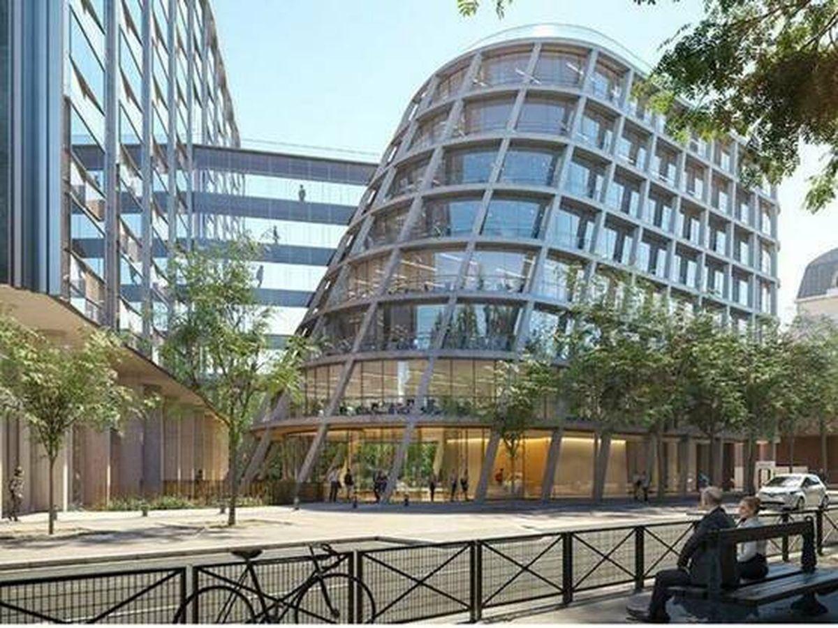 Foto: El futuro edificio Biome de Colonial en París, un inmueble de 24.000 m2 que se convertirá en una referencia de arquitectura sostenible. (Colonial)