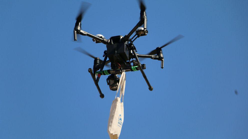 Usan en Chile un dron para entregar medicamentos durante la cuarentena
