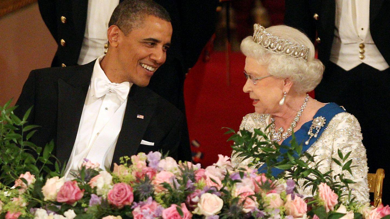 Barack Obama y la reina Isabel II,  durante la visita de Estado. (Getty)