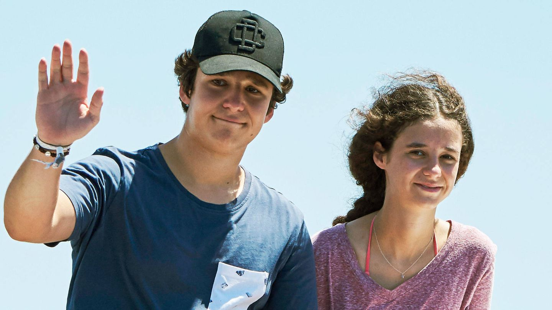 Froilán y su hermana Victoria, en verano. (Getty)