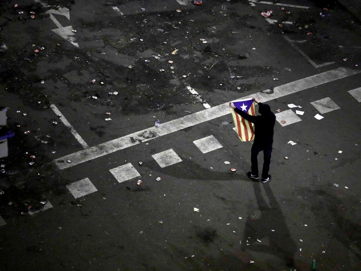 Foto: Concentración de protesta de los CDR. (EFE)