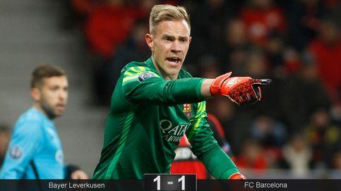 Ter Stegen salva a un Barça lleno de suplentes que no da la talla en Leverkusen