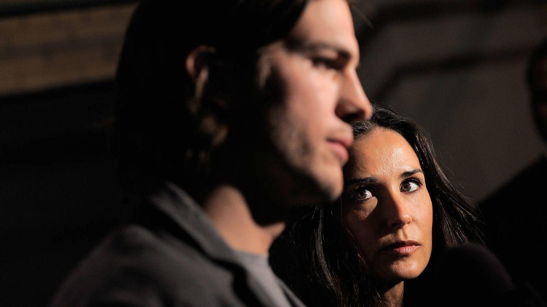 Demi Moore y Asthon Kutcher. (Getty)