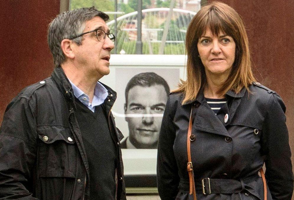 Foto: Idoia Mendía con Patxi López. (EFE)